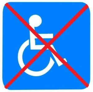 cadeira de rodas só para quem é da obra icm