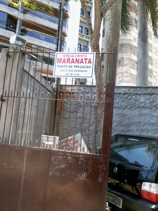 igreja maranata cobra estacionamento